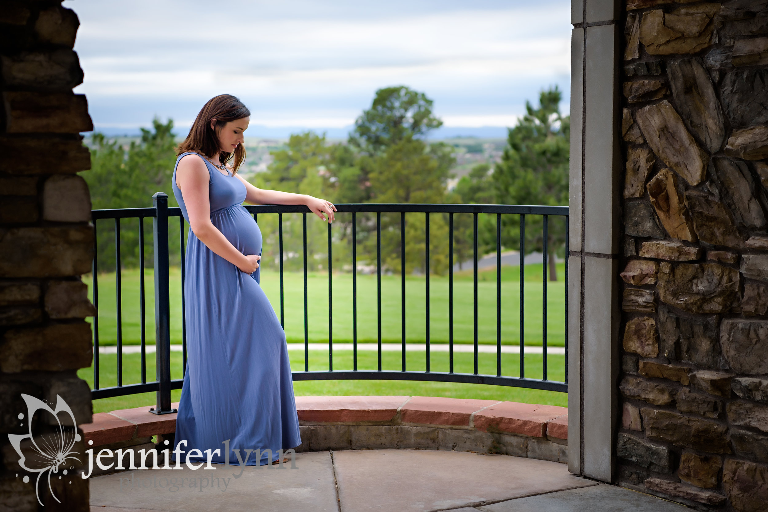 Intimate Maternity Moment Railing Outlook