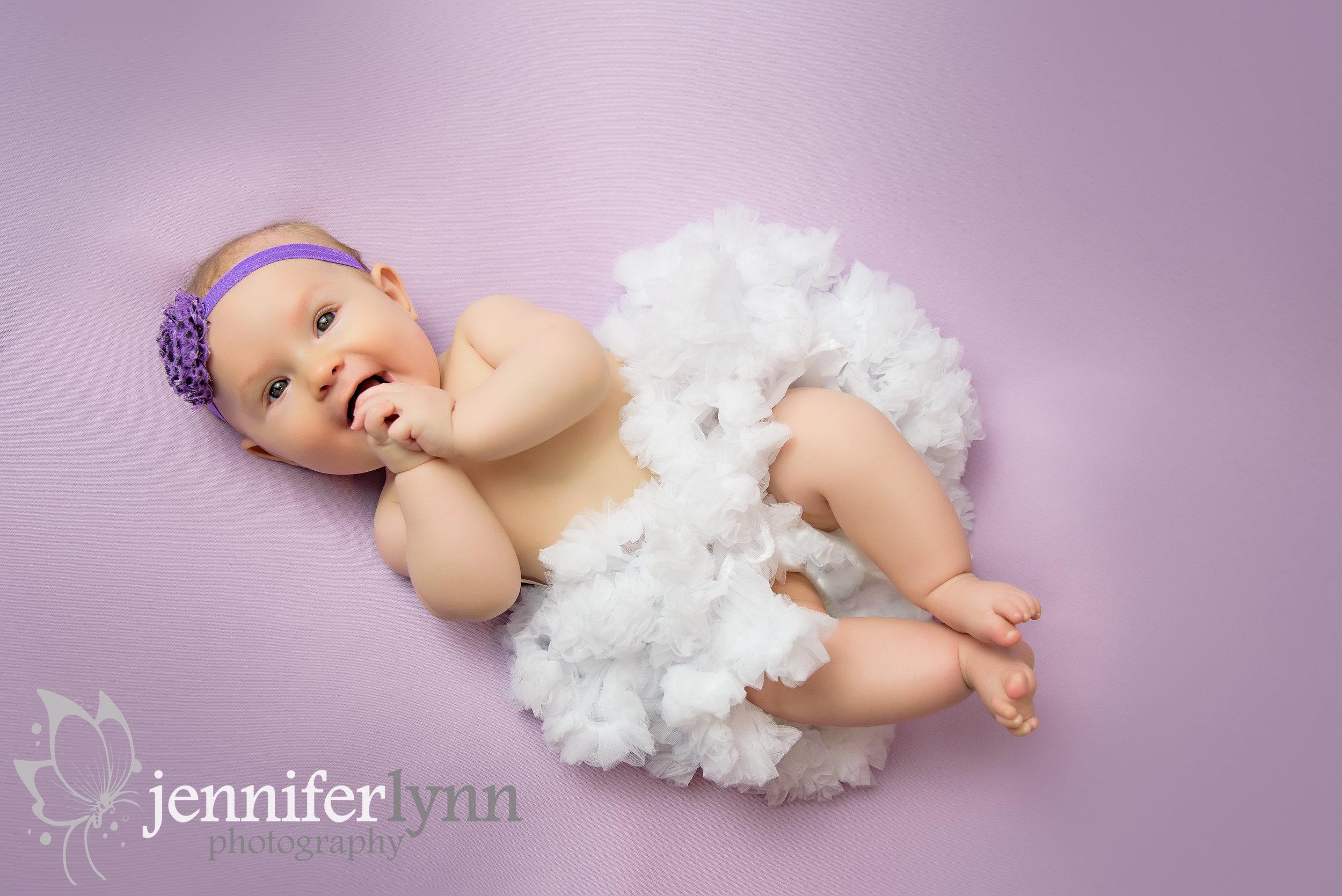 Happy Baby Purple White Tutu