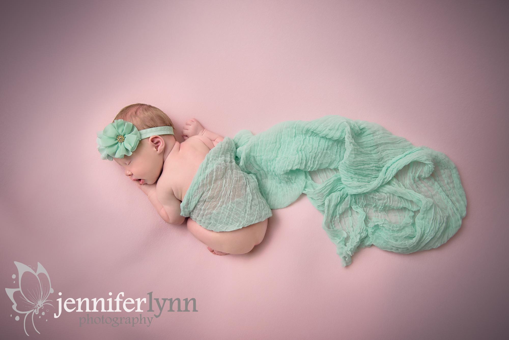 Newborn Girl Mint and Pink