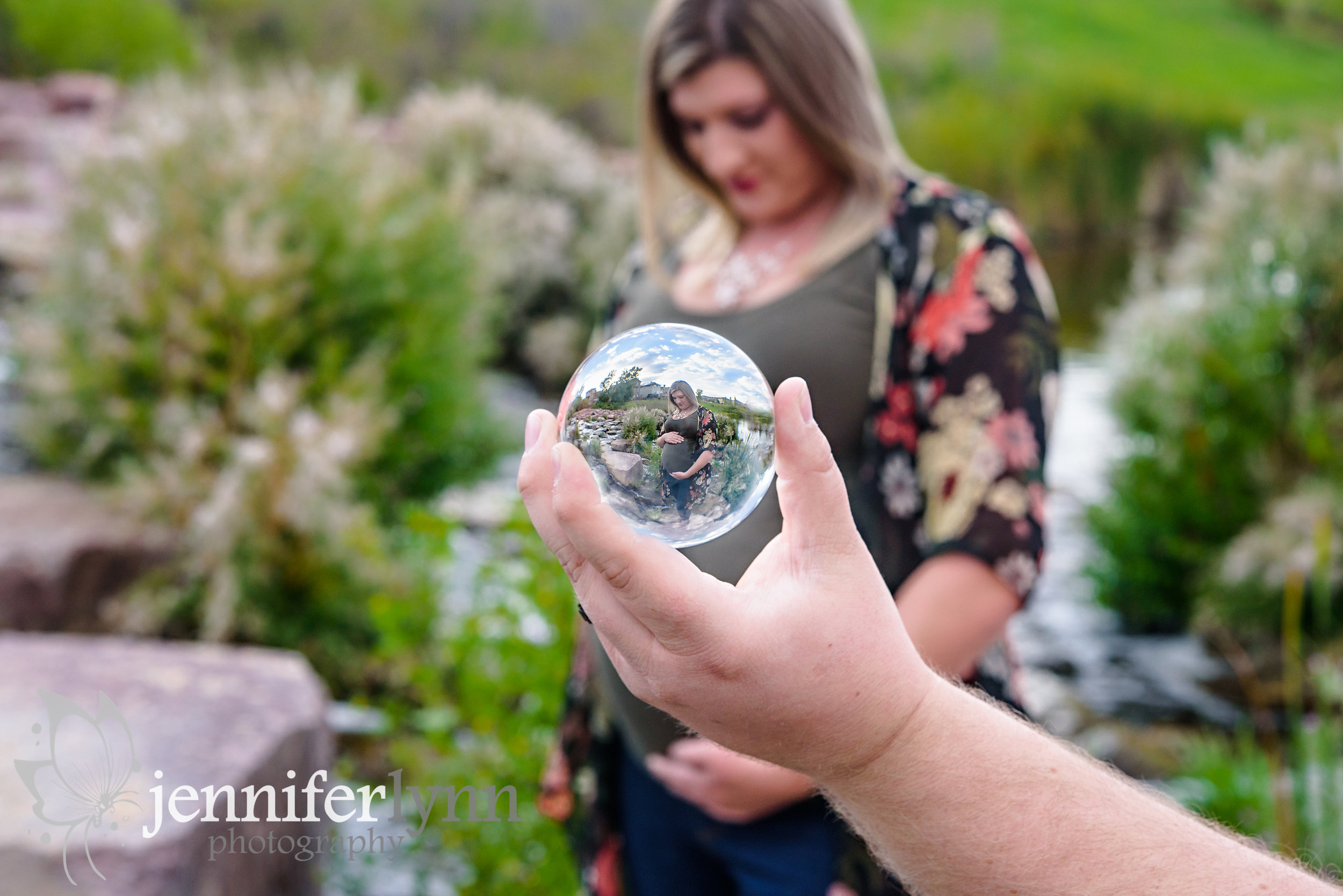 Maternity Crystal Ball Refraction