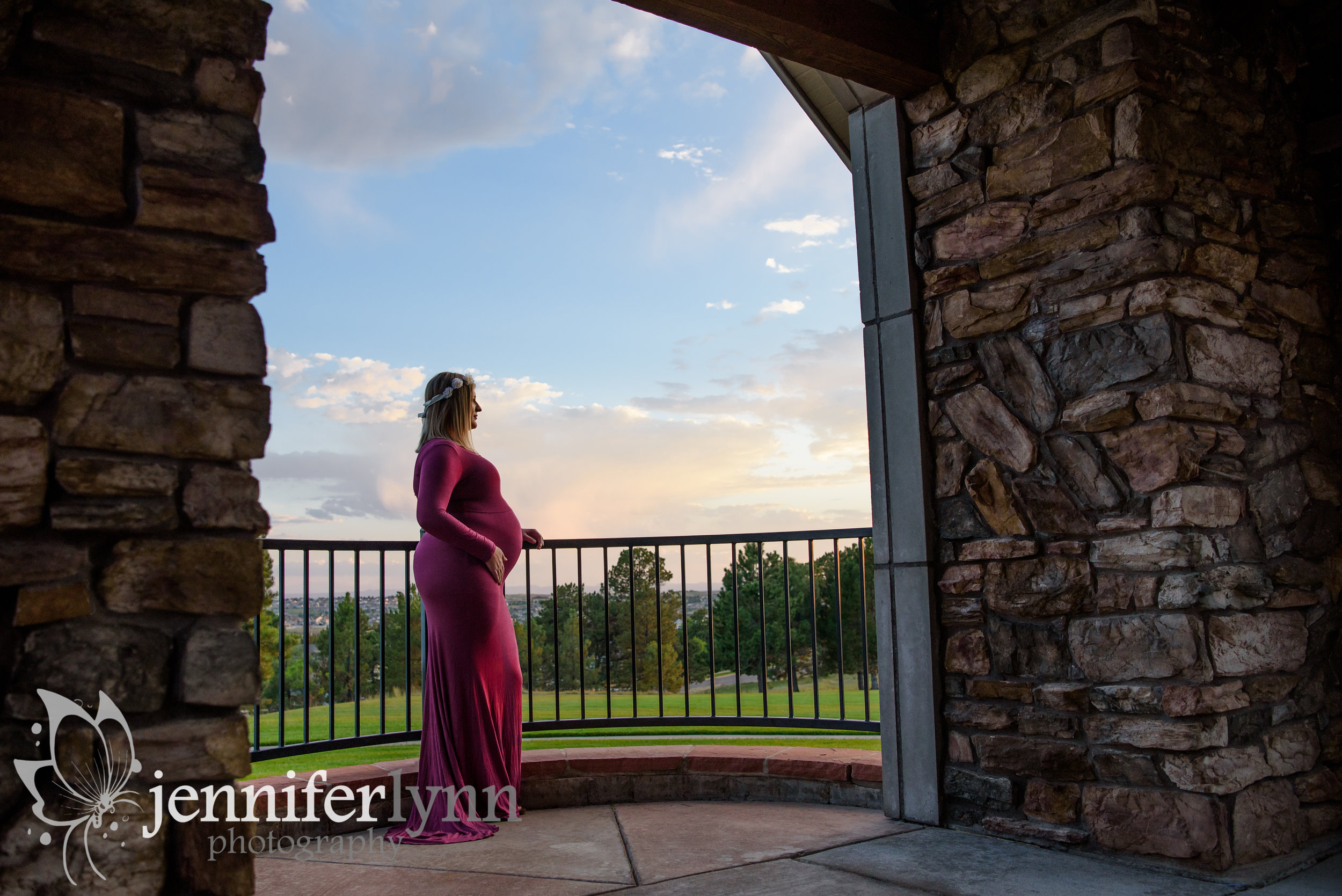 Maternity Sunset Arch Railing Frame