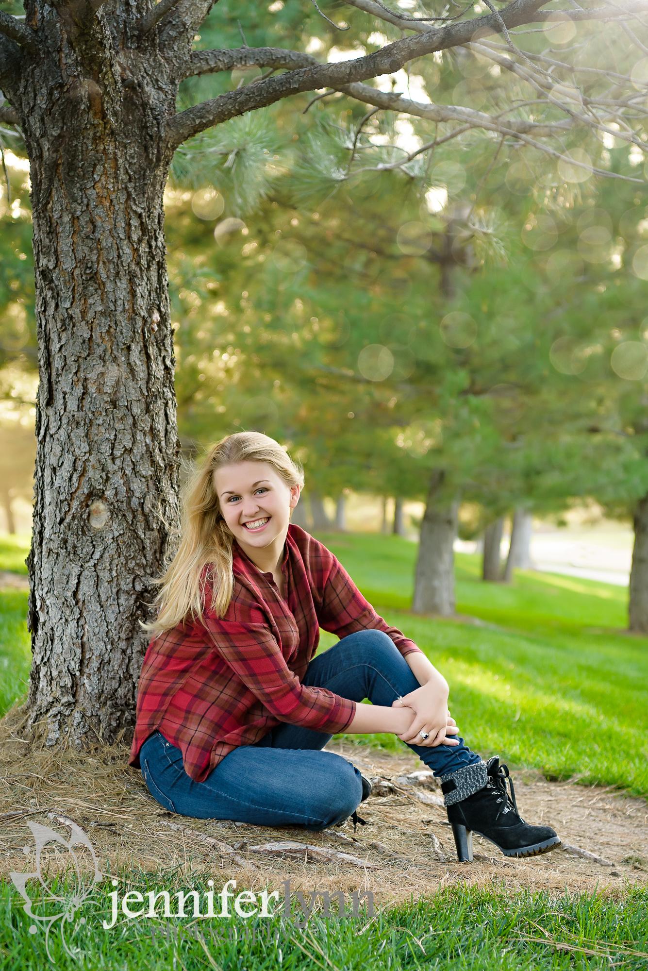 Senior Girl Outdoor Tree Fall Colors