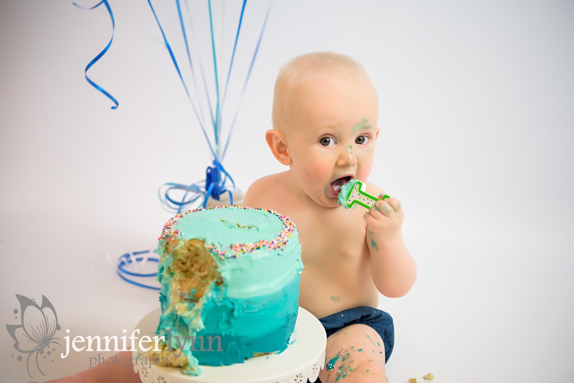 Boy Cake Smash Blue
