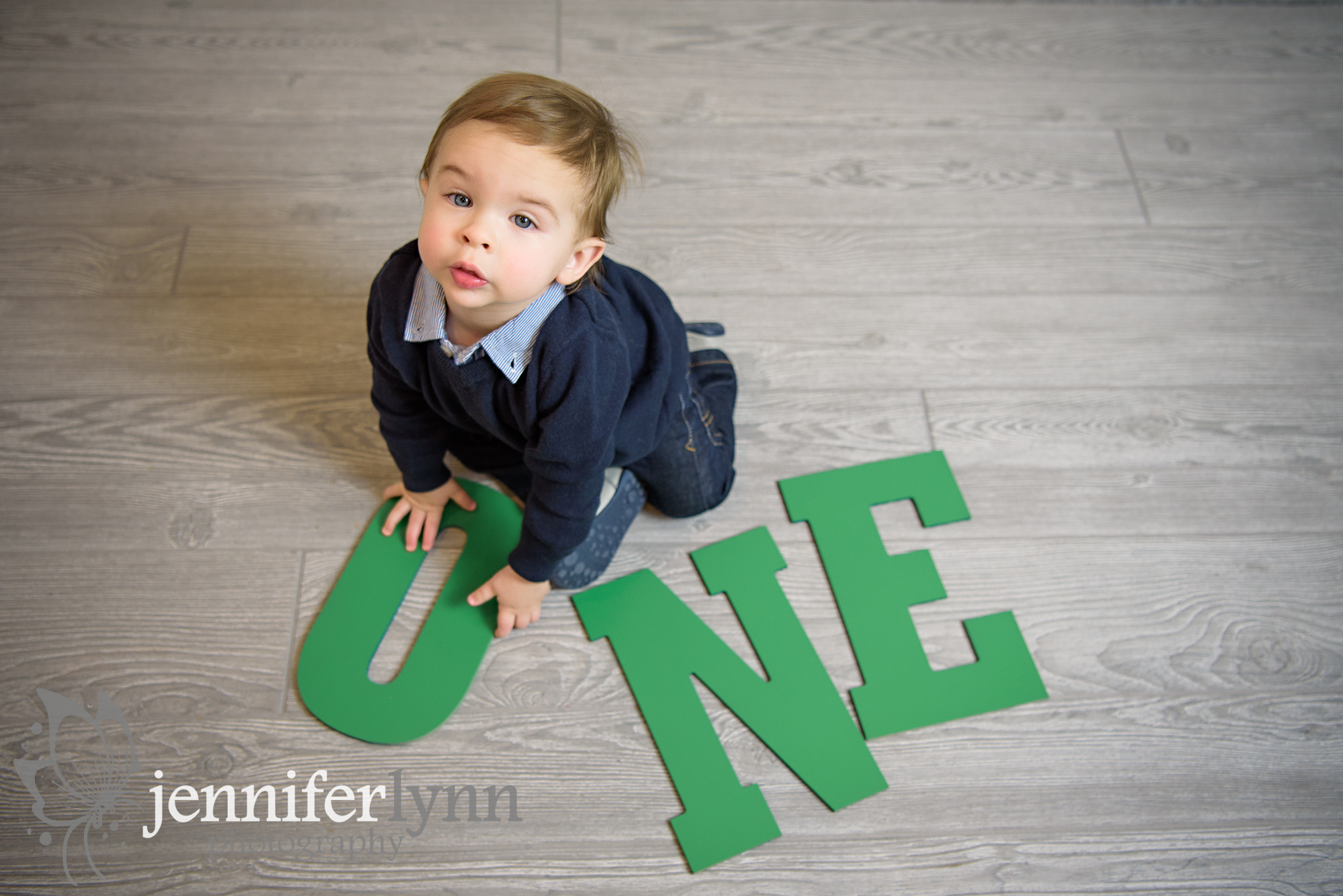 Baby Boy One Year wood Letters