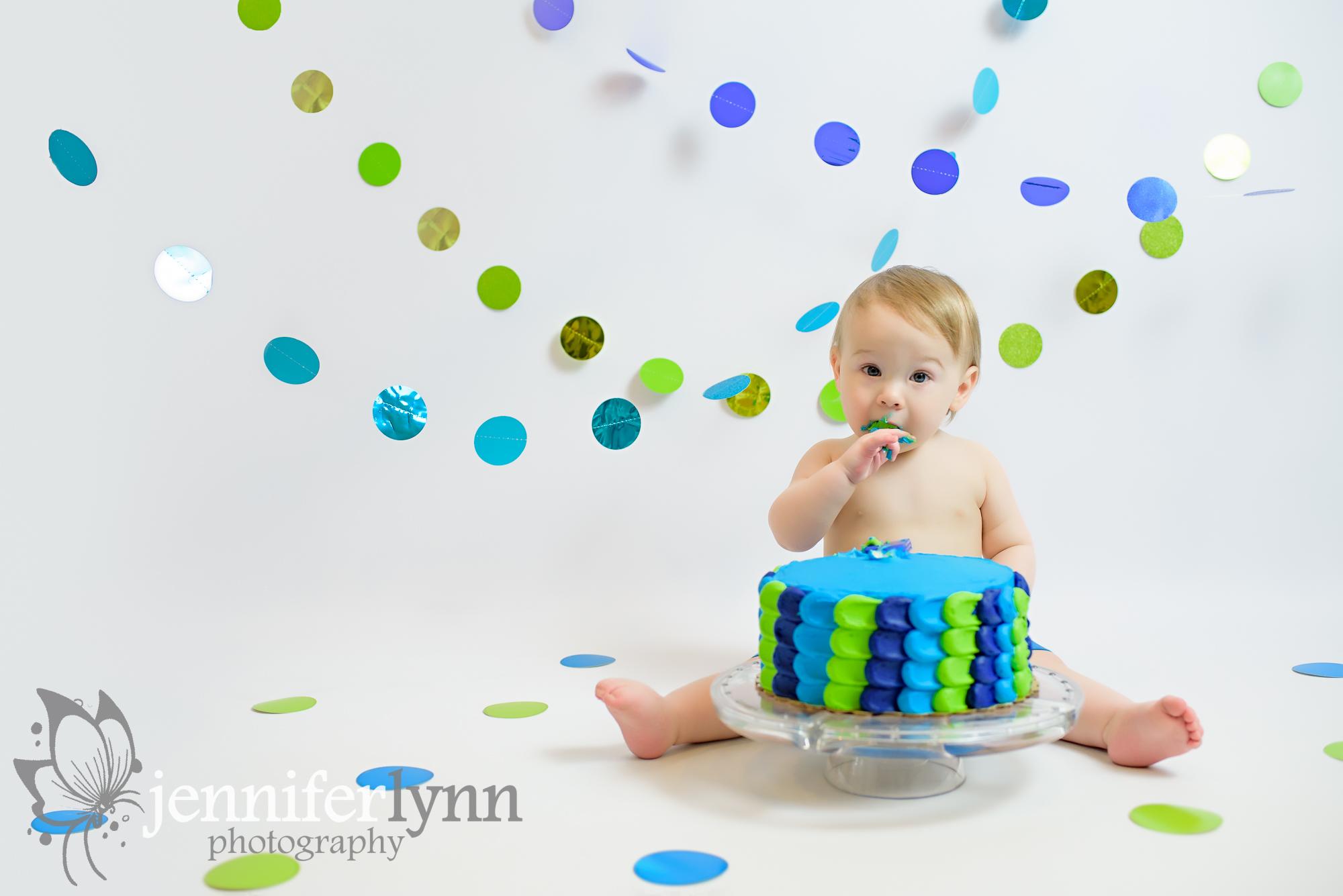 Dot Themed Boy Cake Smash