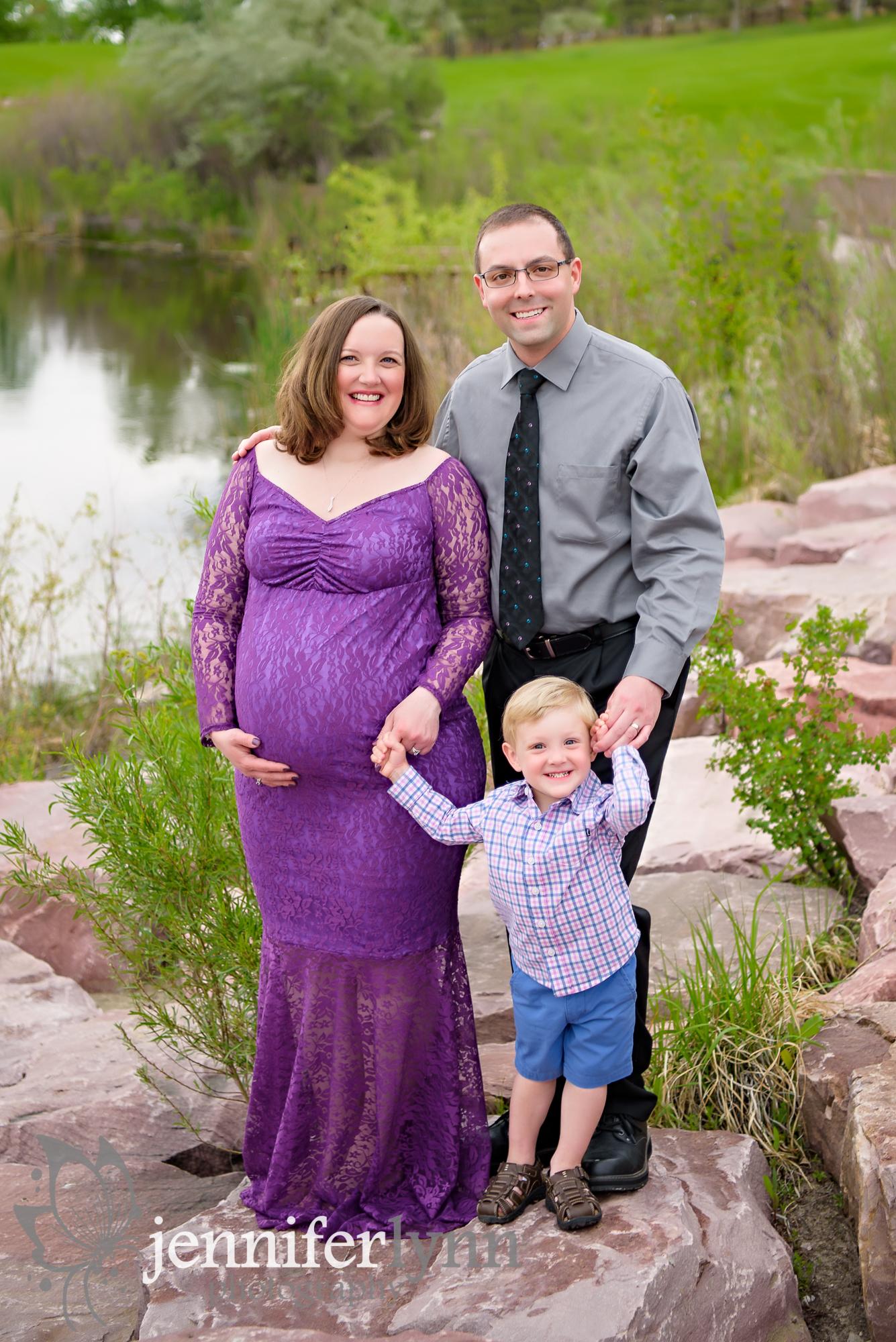 Maternity Session Family Photo