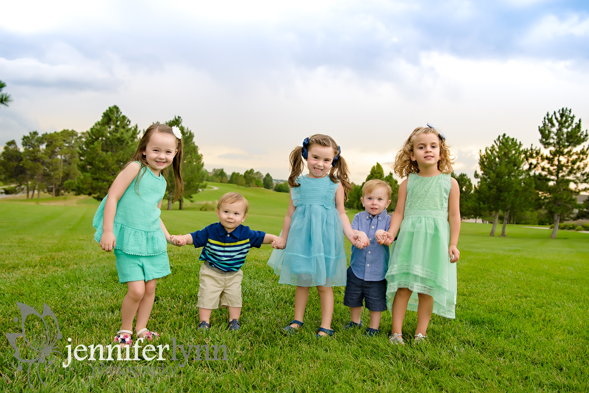 All cousins together photo outdoors