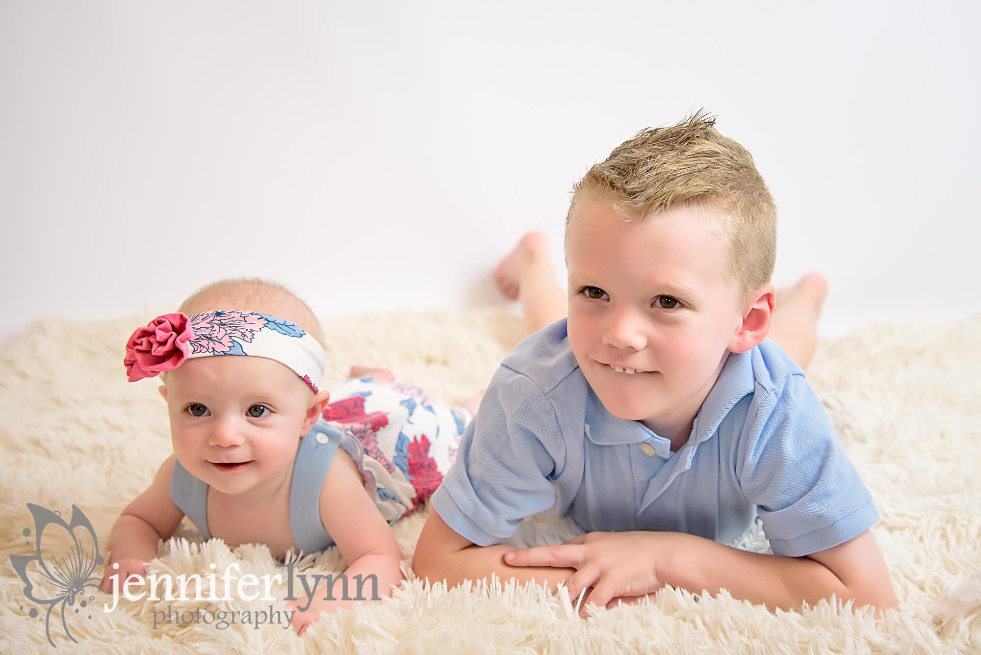 Baby Milestone Sibling Photo