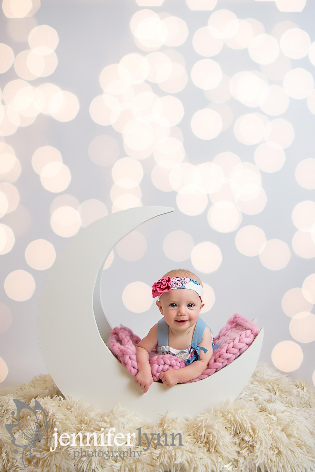 Baby Girl Moon Milestone