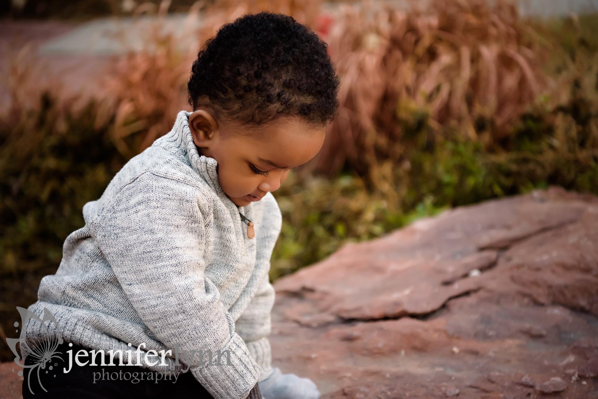 Toddler Profile Outdoors Rock