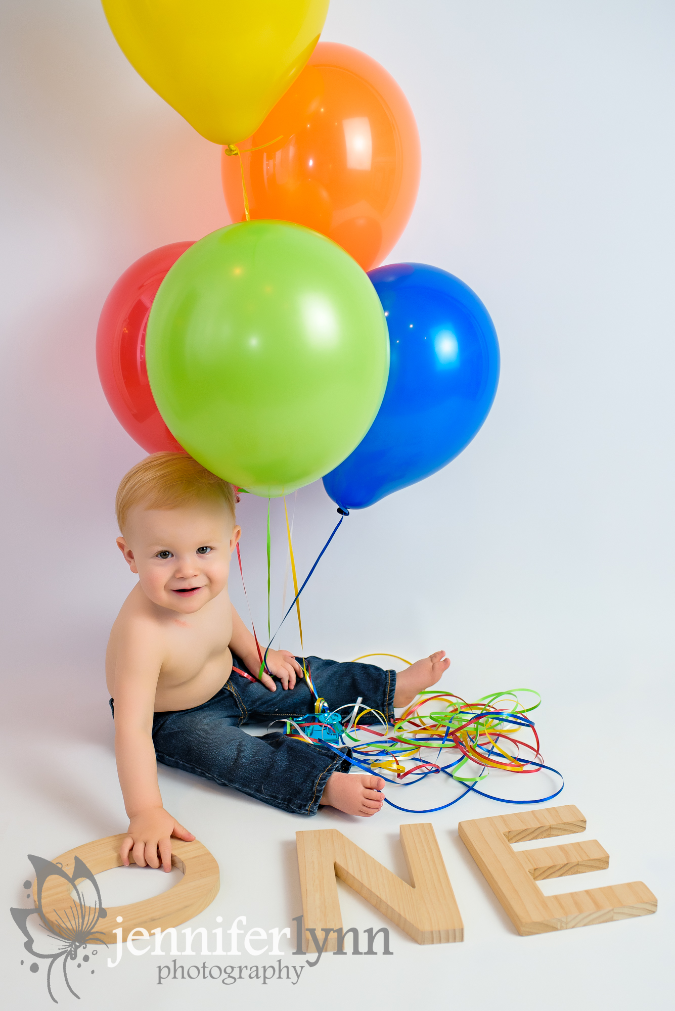 Baby Boy Birthday Balloons Wooden Letters