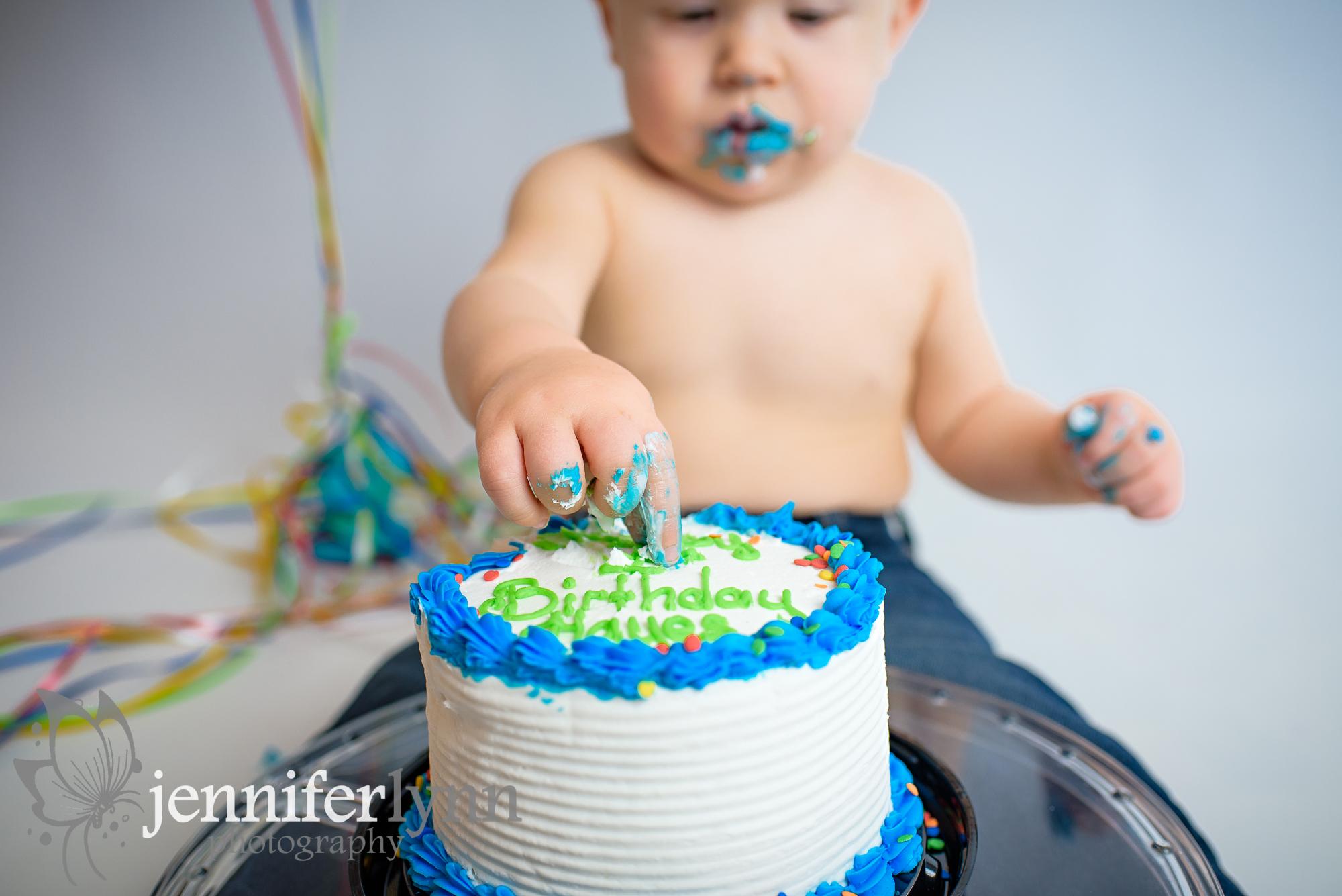 Baby Boy Fingers Smash Cake