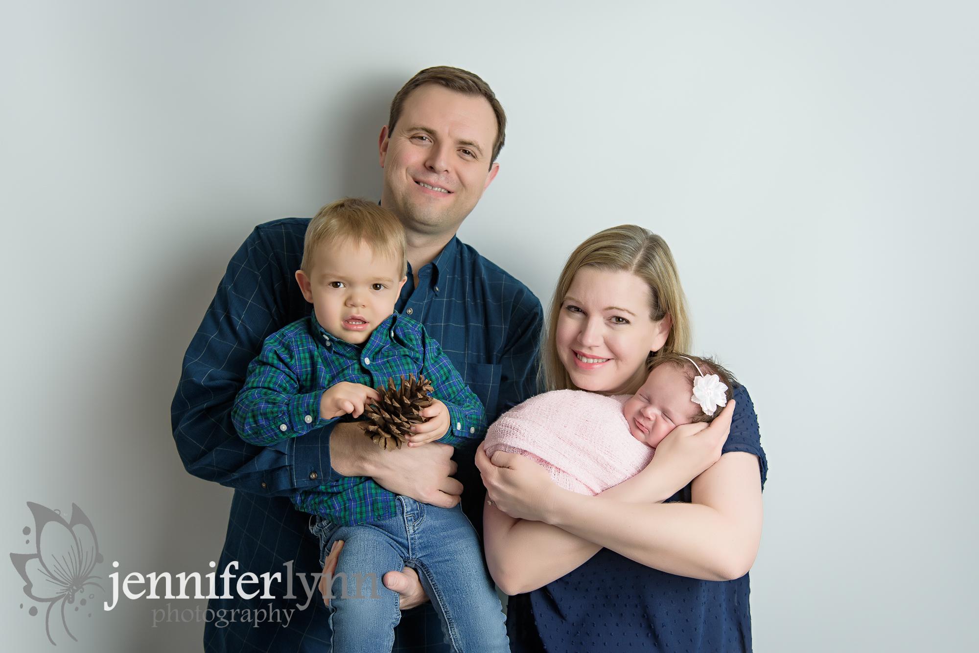 Family of 4 Newborn Girl