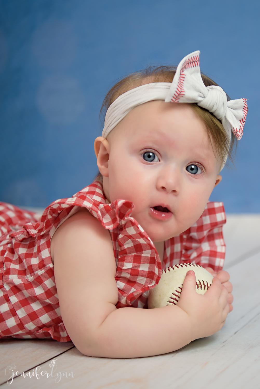 6 Month baby girl baseball
