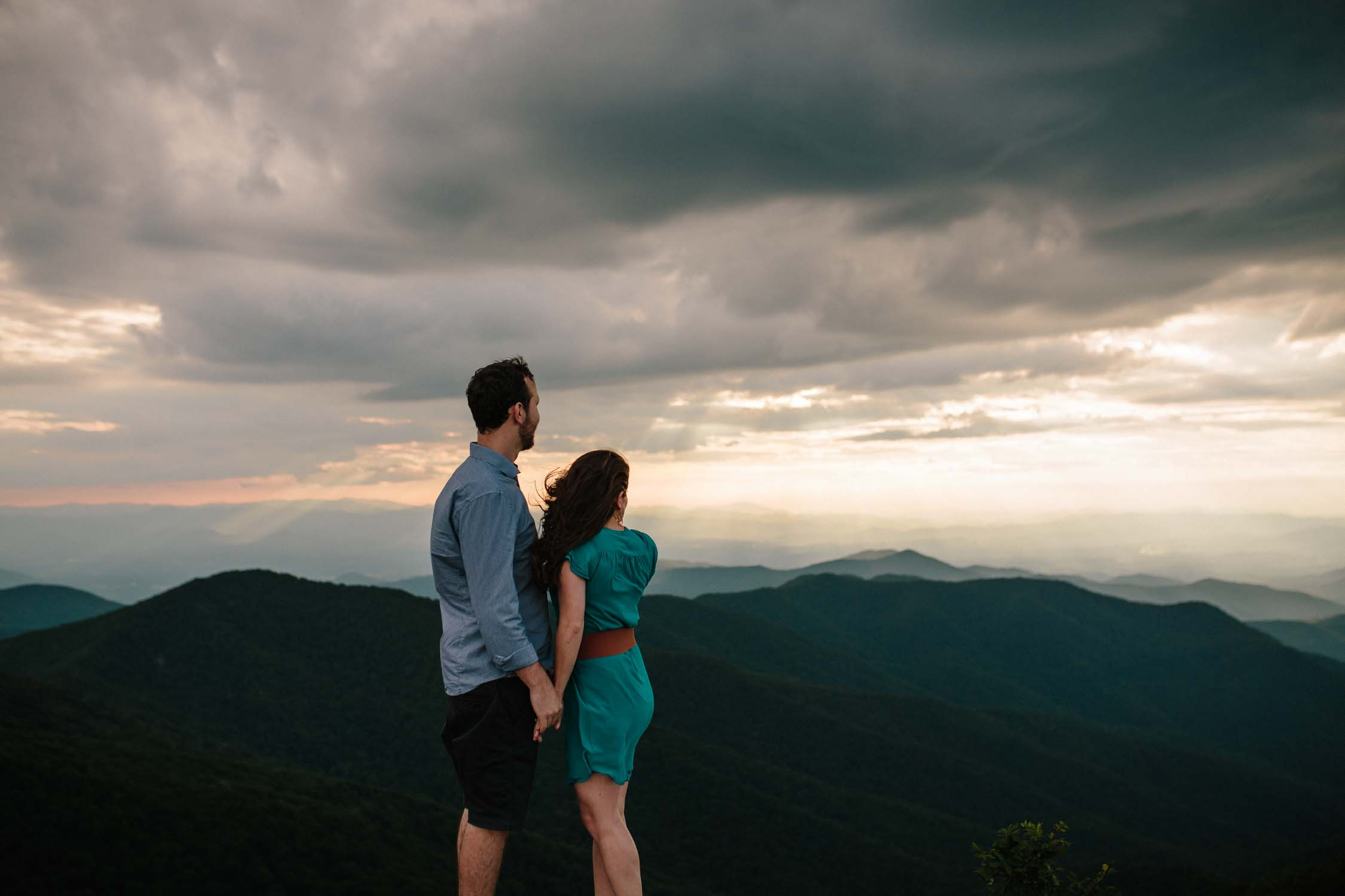 Asheville Engagement Session Craggy Gardens
