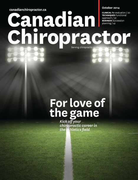 Canadian Chiropractor (October 2014) Functional Assessment: Part one