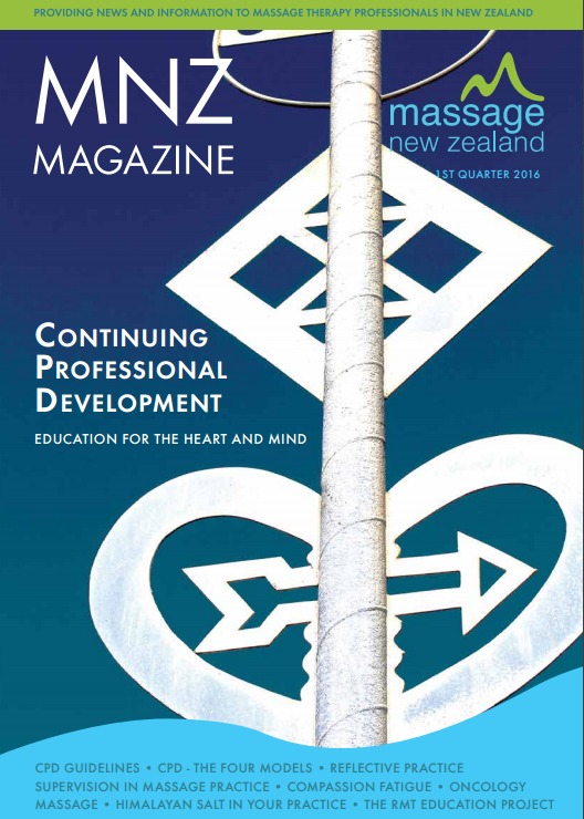 Massage New Zealand (Spring 2016) Massage Therapy Research Review