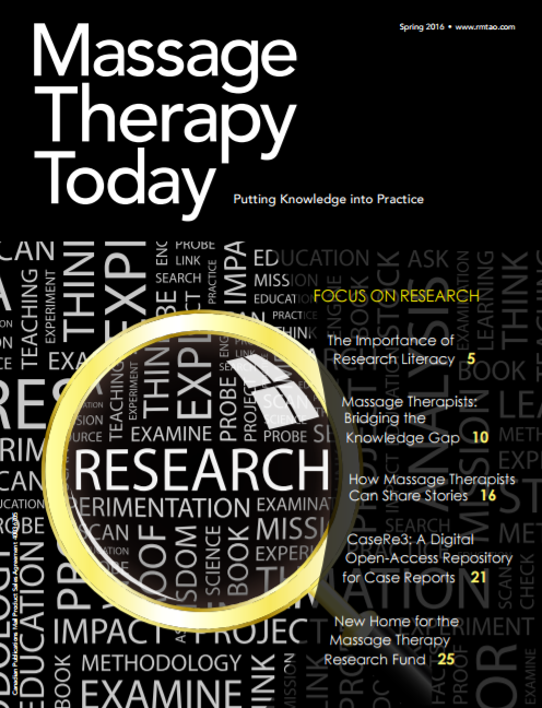 Massage Therapy Today (Spring 2016) - Bridging the Knowledge Gap