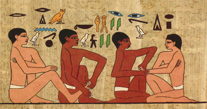 Image from The Tomb of Akmanthor in Saqqara, Egypt (2330 BC)