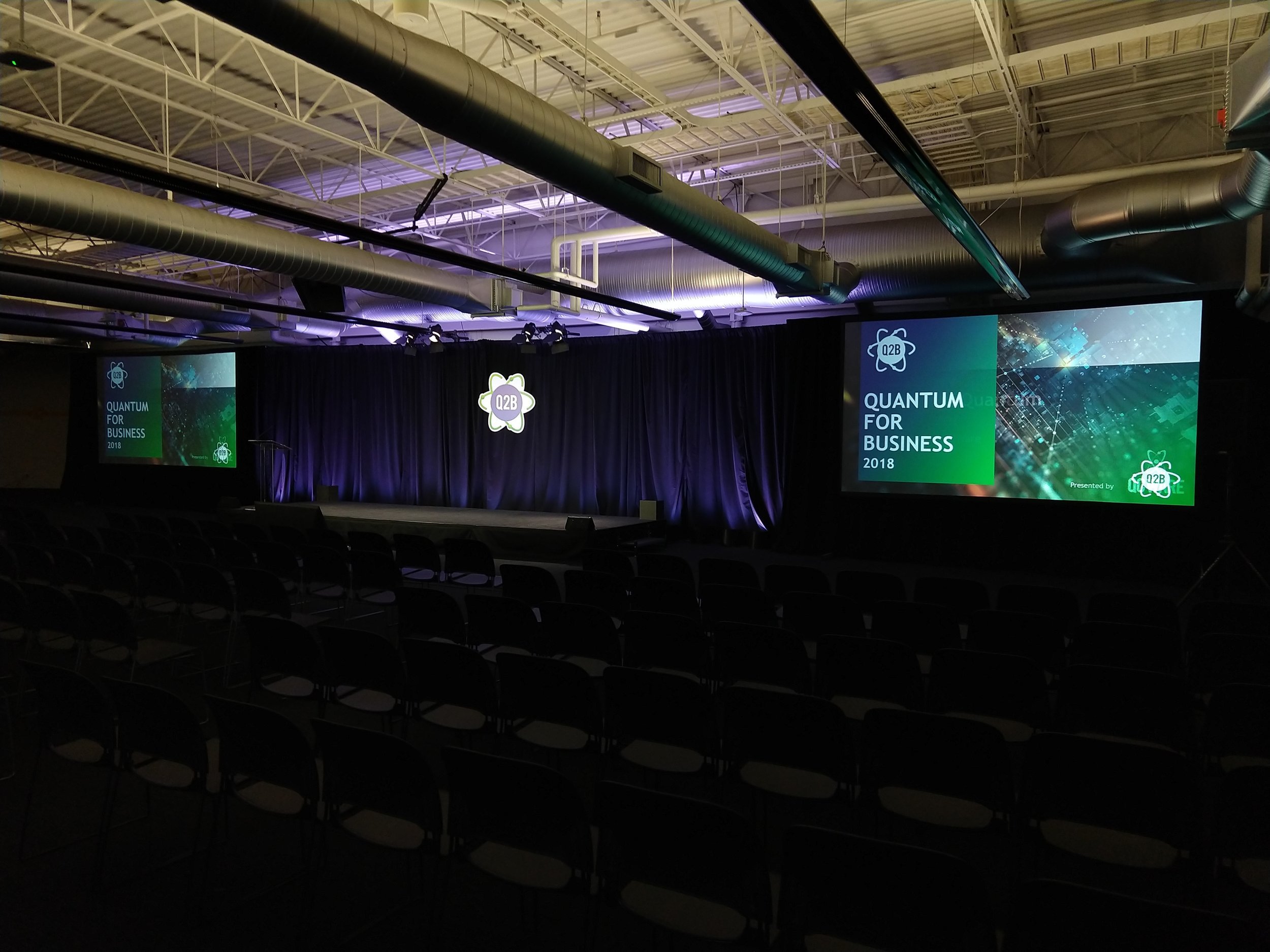 AV, video capture, lighting, and drape for a multi day conference.