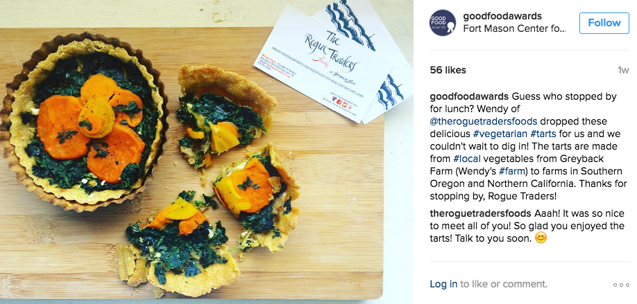 The good people at the Good Food Awards in San Francisco don't have a category for frozen food yet, but we started the conversation with a tasting of our tarts.  It looks like they liked them! It Makes us so very happy!