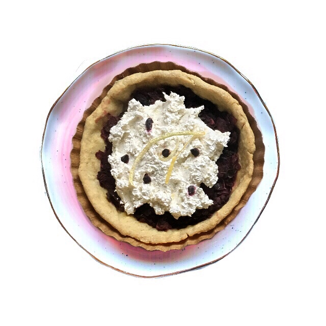 The Endless Summer Tartlet - We saved a little bit of Summer for you. It looks like dessert, but tastes like dinner, it's packed with protein & NO SUGAR added! Think of a savory blackberry pie that pairs great with wine.Our hearty crust is filled with vine ripened blackberries, caramelized onions & kale cooked in a sauce of fig balsamic, lemon juice, olive oil & pickled jalapeños. We top it all off with Sierra Nevada goat cheese blended with quinoa, lemon zest & toasted lavender.Our crust: We use pastured eggs and local rbst hormone free butter, organically grown whole grain - whole wheat and just a touch of corn flour for texture.This is the most nutritious wheat you can buy. It includes the bran & germ, ground in a stone mill the day we order it from Dunbar Farms, a farm 30 minutes from ours.