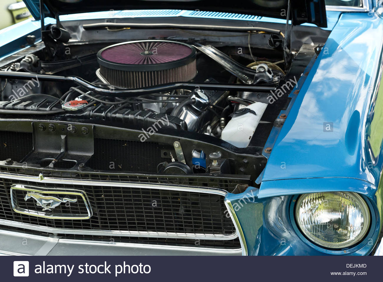 PC: https://www.alamy.com/stock-photo-ford-mustang-302-engine-under-the-hood-american-auto-club-international-60646893.html