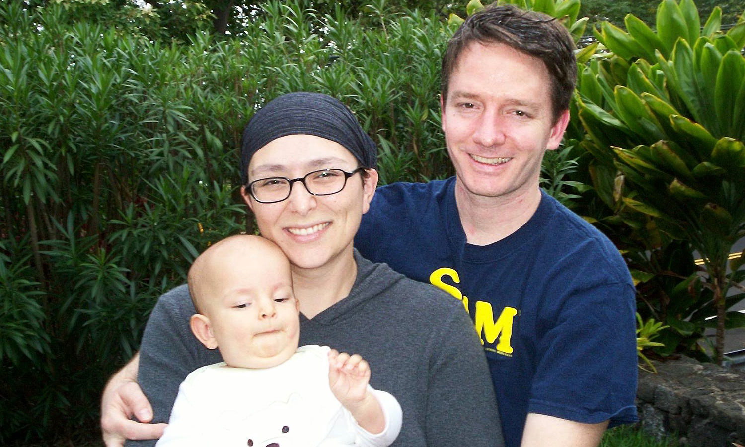 Amber Bobnar in 2005 with husband, Esoos, and son, Ivan.