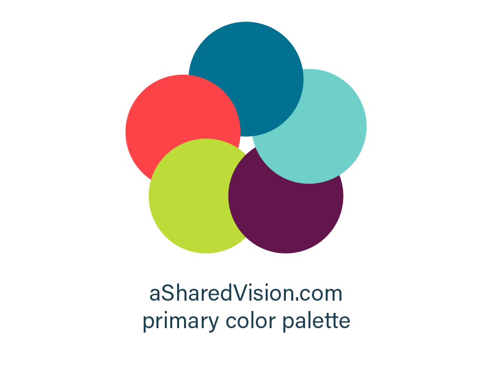 aSharedVision.com primary color palette