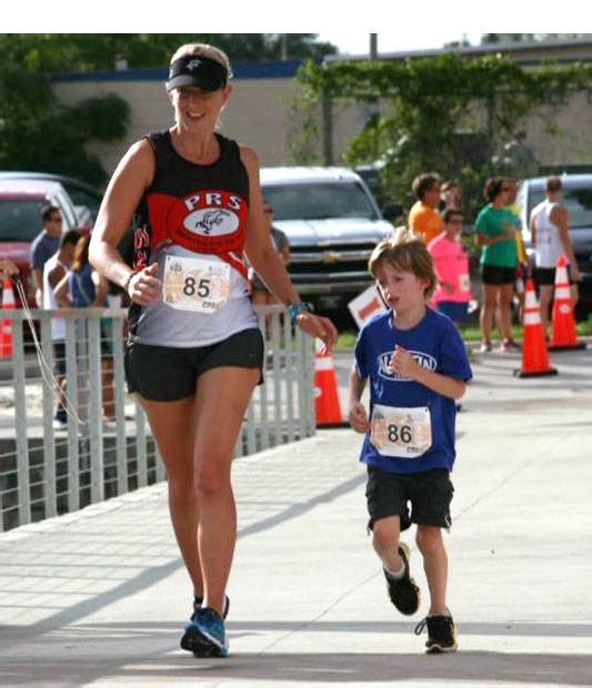 Stephanie and her son Sullivan consider training a family affair!
