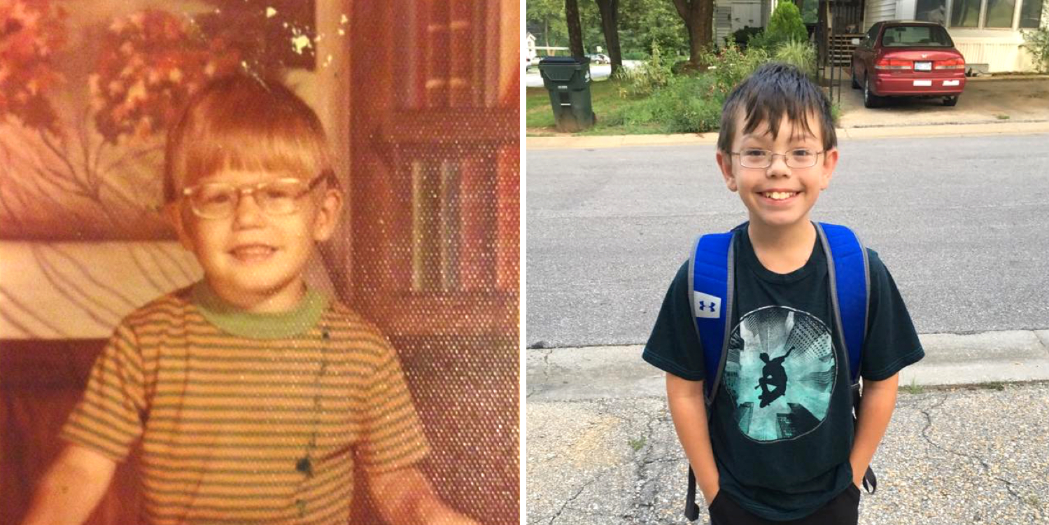 Andy Coffield (left) and his grandson, Tyler Kitchengs (right), share the same inherited retinal disease.