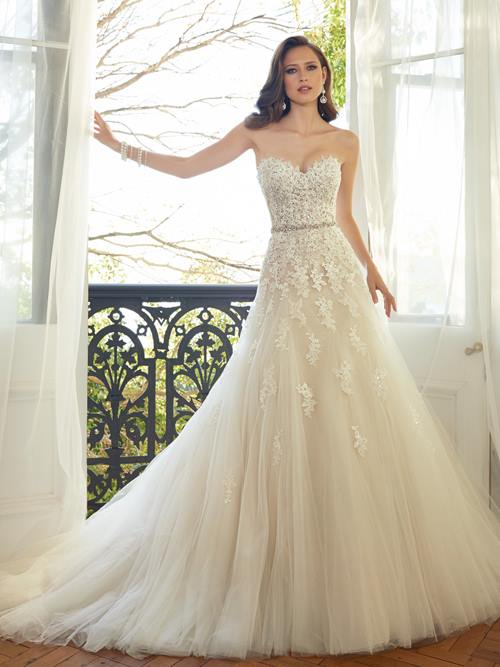 Sophia Tolli  Y11552 Color: FR BEIGE IV Size: 10     Retail Price: $1,573 Our Price: $1,101  Phoenix Store