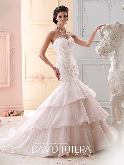 David Tutera  215262 Color: IV TEAROSE Size 6   Retail Price: $1,348 Our Price: $944  Las Vegas Location