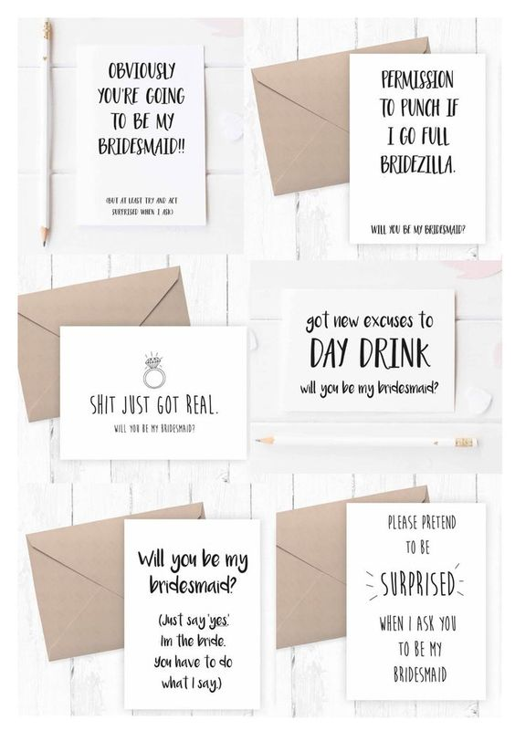 Funny Ways To Ask Bridesmaids To Be In