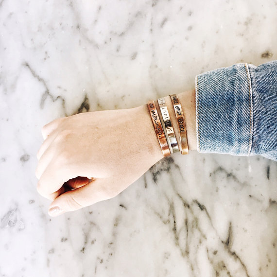 Customized metal cuff bracelet  from genuine & ginger $22.00