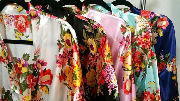 Floral bridesmaid's robes  from Sharbathi $16.00