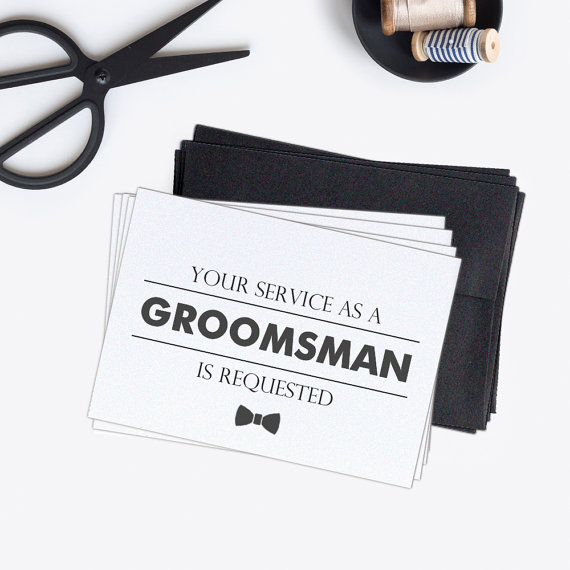 groomsmen card  From Dazzling Daisies co $12.00/set of 4