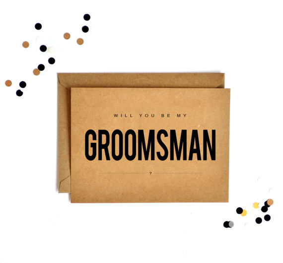groomsmen card  set from floating specks $15.00/ set of 5