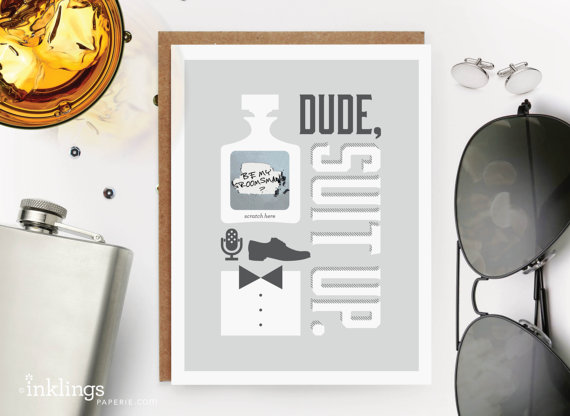 groomsmen scratch off card  from inklings paperie $21.00/set of 6