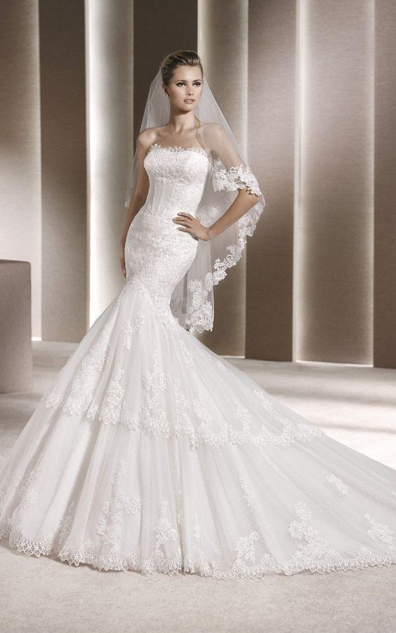 La Sposa By PRONOVIAS Evangeline Off White Size 16 Retail Price $1850   Our Price $1295