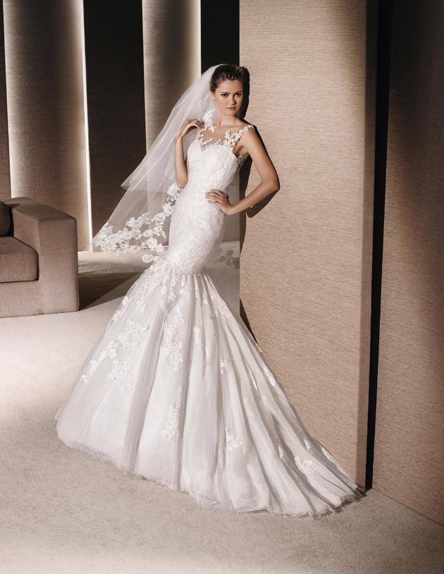 La Sposa Raisa BY PRONOVIAS Size 14 Ivory Retail Price $1900   Our Price $1330