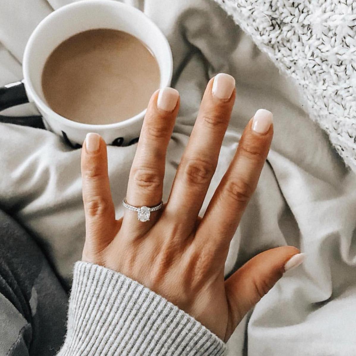 @lex.joness   Engagement ring from     @Bluenilediamond   via @instagram