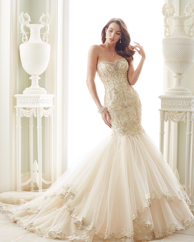 mon cheri bridal Ivory/Pewter  Retail Price $2123 | Message for price