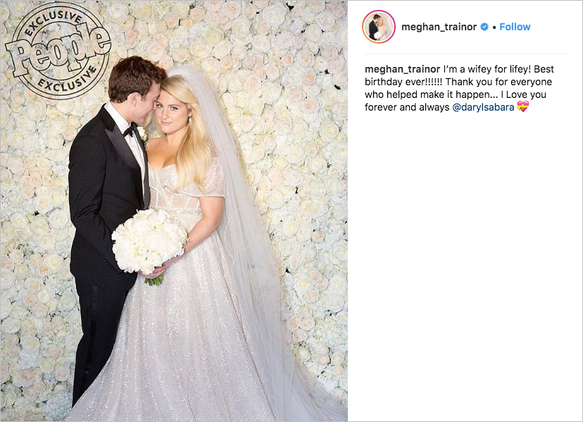 Meghan Trainor wedding