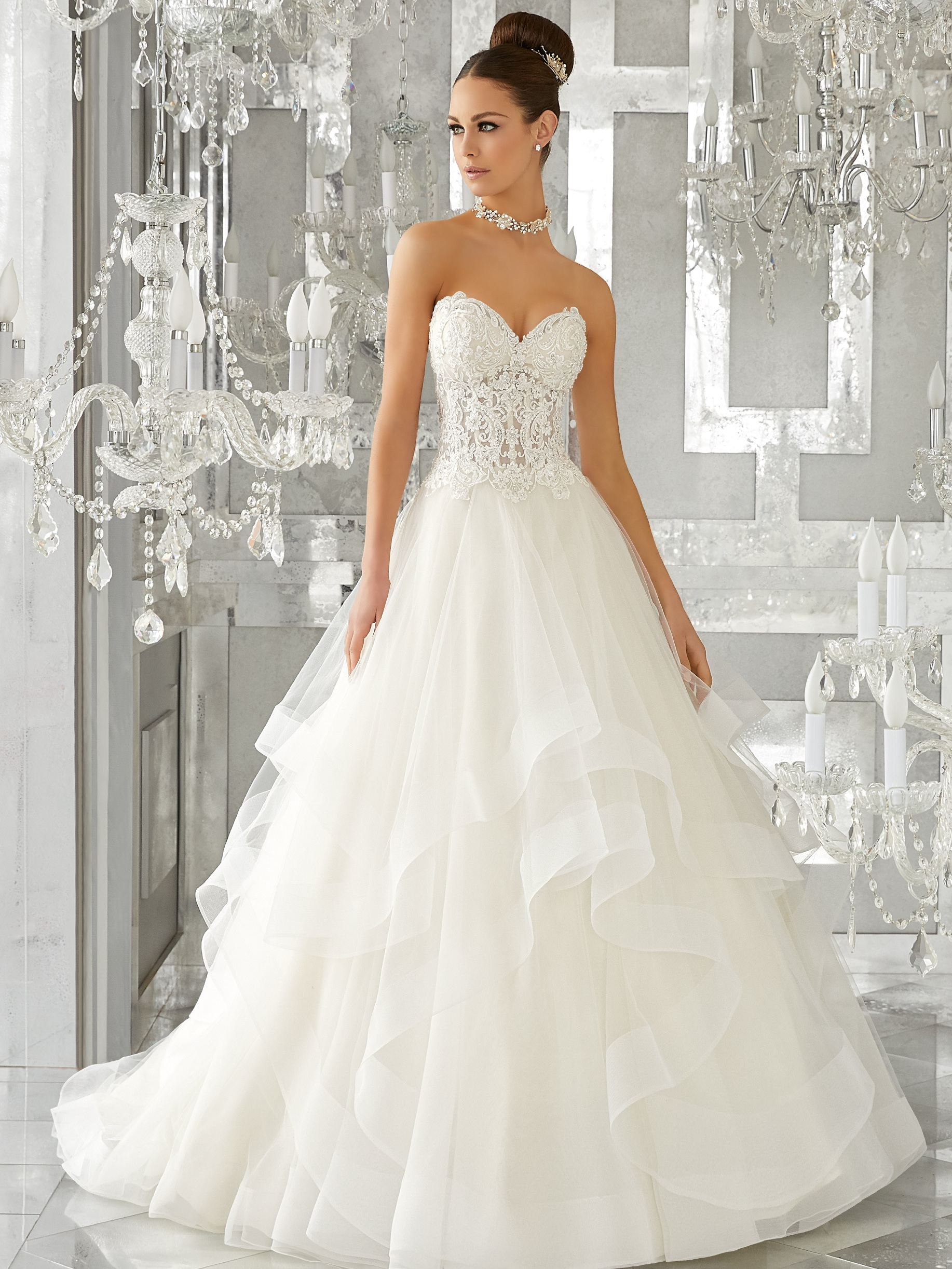 Mori Lee 5570 Ivory Light Gold // Retail Price $1249 | Our Price $$874