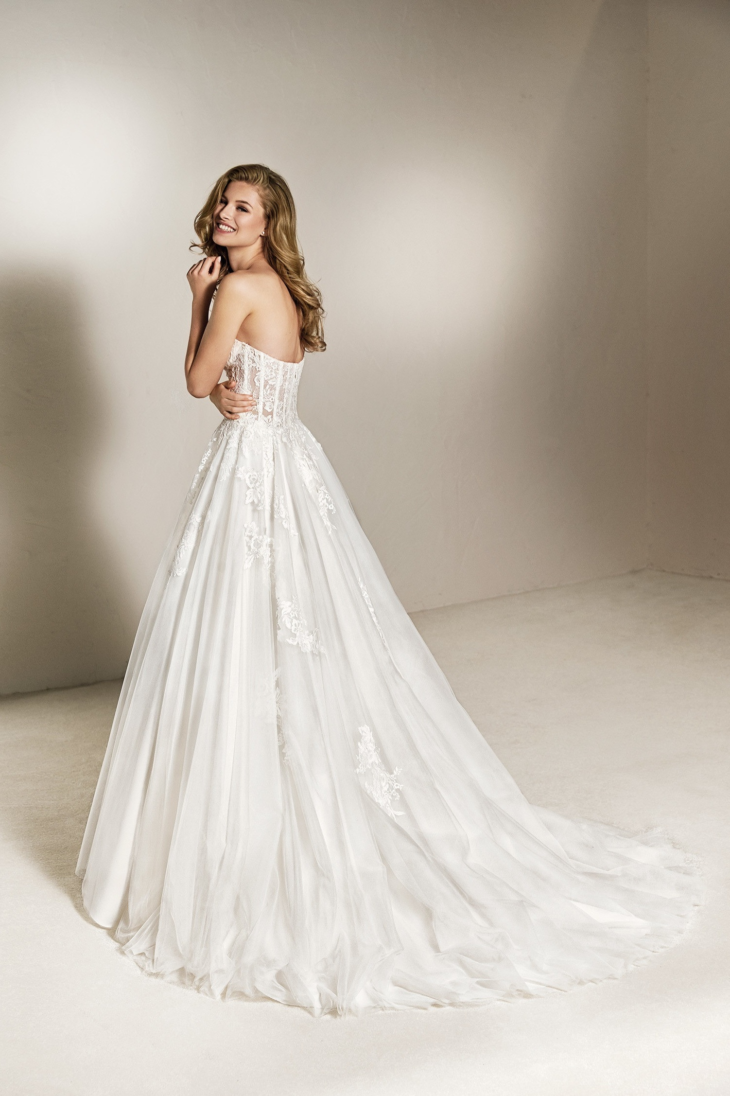 Pronovias Cheira IvorY // Retail Price $1525 | Our Price $1068