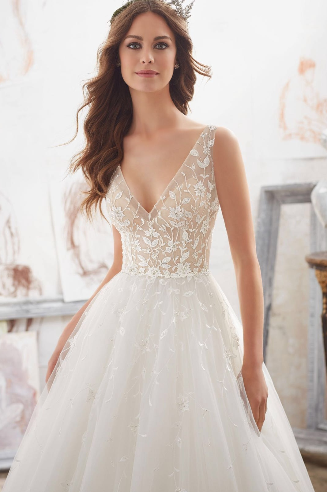 Mori Lee 5515 ivory // Retail Price $1149 | Our Price $800