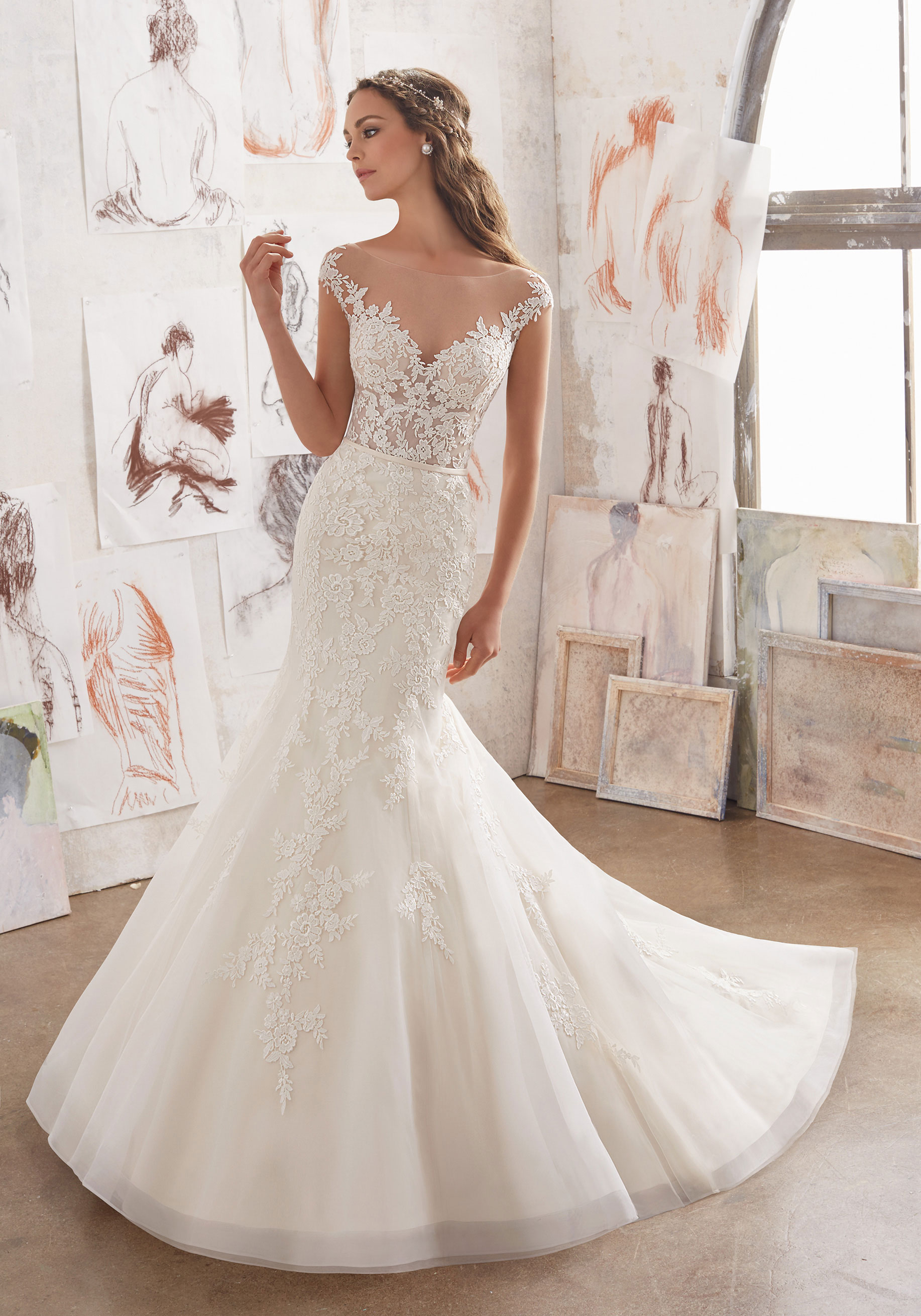 Mori Lee Blu 5509 Ivory // Retail Price $1209 | Our Price $845