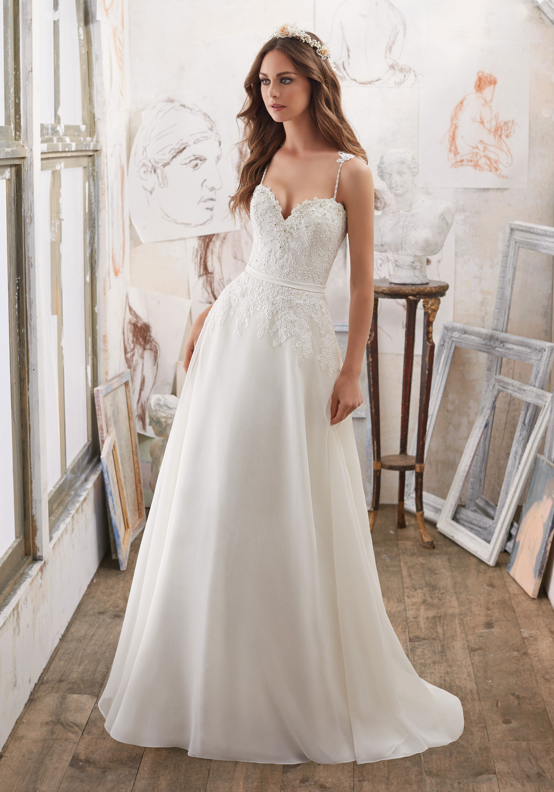 Mori Lee Blu 5514 Ivory // Retail Price $1170 | Our Price $819