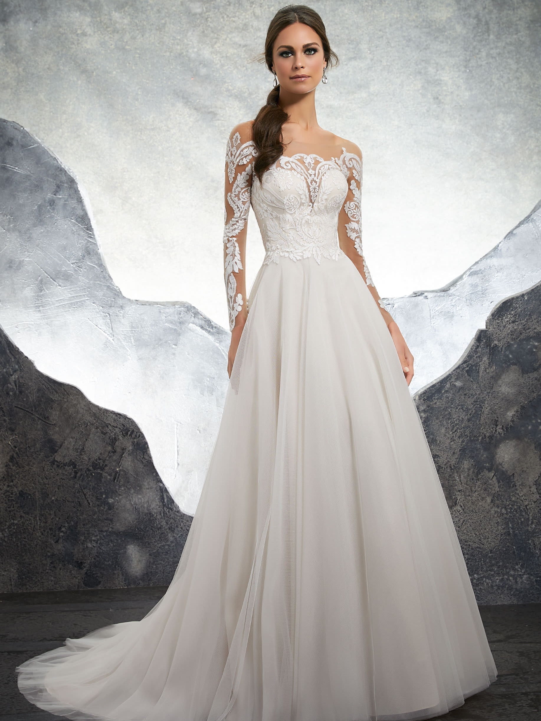 Mori Lee 5602 Ivory/Blush // Retail Price $1225 | Our Price $857